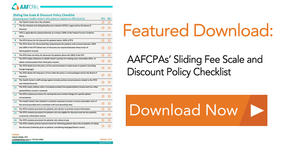 Download Button for Sliding Fee Scale and Discount Policy Checklist