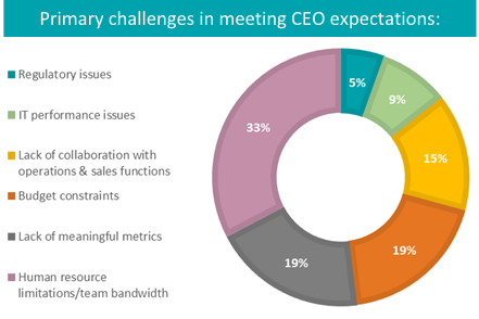 Primary Challenges in CFOs Meeting CEO Expectations