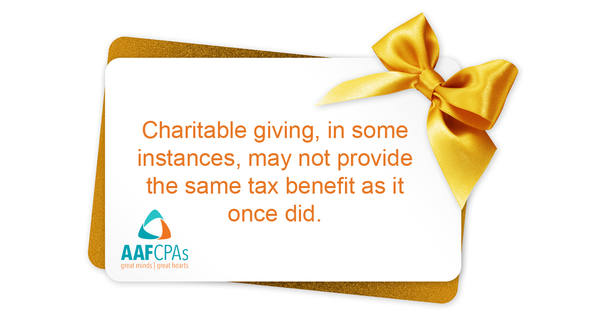Charitable Planning After the TCJA Tax Law Changes