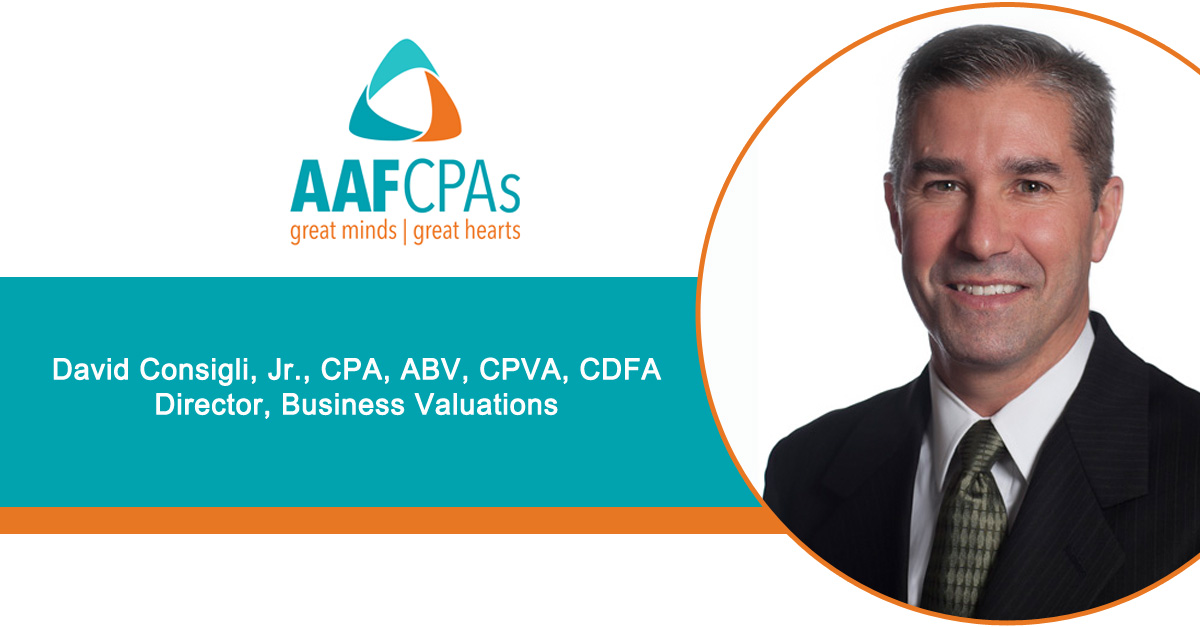 AAFCPAs' David Consigli Earns Certified Divorce Financial Analyst Credential