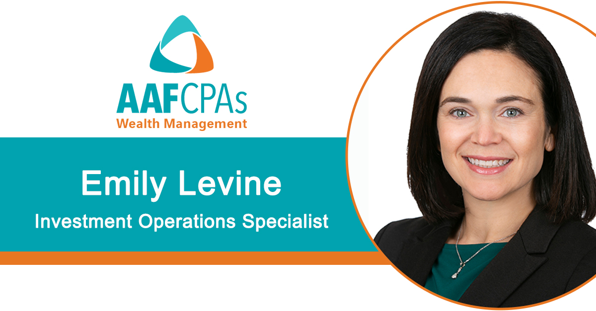 AAFCPAs Wealth Management Welcomes Emily Levine, Investment Operations Specialist